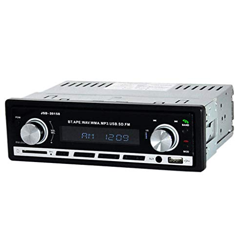 MagiDeal Auto Classic FM Reproductor de Radio Retro Bluetooth Estéreo MP3 USB AUX Audio + Remoto