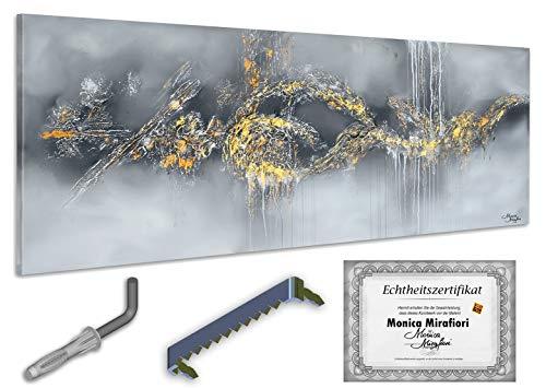 Monica Mirafiori I Gemälde Hypnosis I 160x60cm | XXL Leinwandbild handgemalt | Acrylgemälde auf Leinwand | Sehr großes Acrylbild auf Keilrahmen