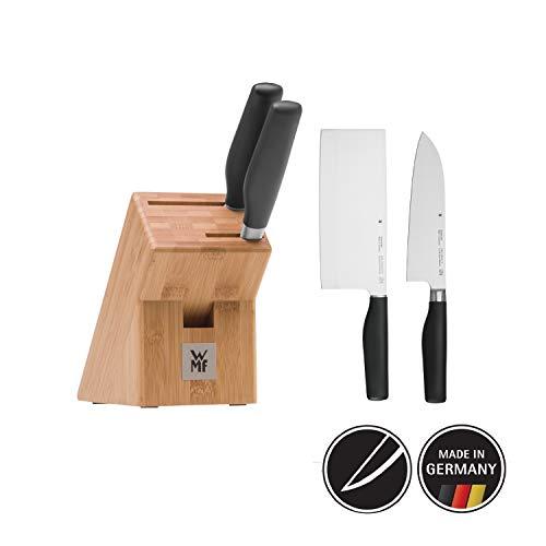 WMF Cuisine One Asia Messenblok met messenset 3-delig, bekleed, 2 messen gesmeed, 1 blok van beuken, speciaal gehard staal, Performance Cut