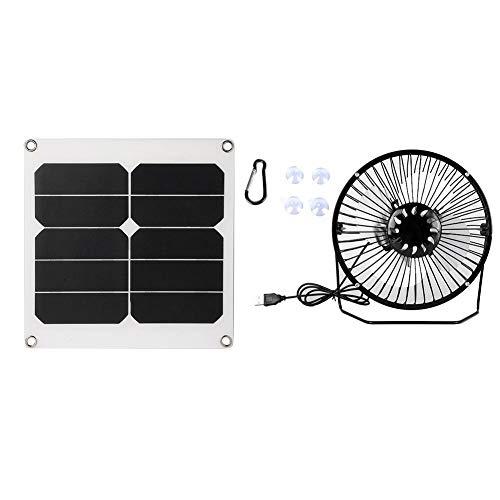 DEWIN 20W USB Solar Attic Tischventilator mit Batteriepaneel für Outdoor-Erholung Camping Angeln Leistungsstarker Windventilator
