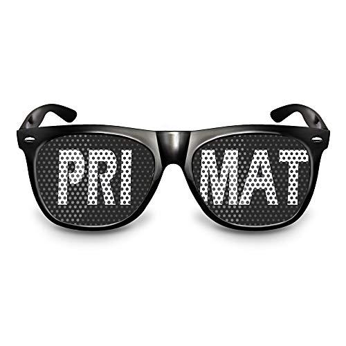 rotzevoll sauftrag Brille original Partybrille SAUFTRAG Primat Brille / Bonobo Sonnenbrille mit Motiv Mandrill Makake Ehrenprimat (PRIMAT)