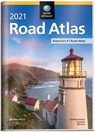 Rand McNally 2021 Road Atlas with Protective Vinyl Cover Rand McNally Road Atlas product image