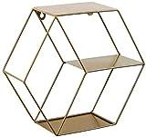Poetance Estantería de Pared Hexagonal, decoración