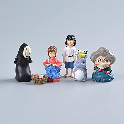 6 Unids / Set Figuras De Acción De Anime Spirited Away Modelo De Película Mini Estatuilla De...