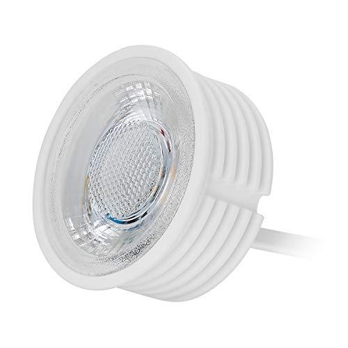 HCFEI - 5 módulos LED planos GU10 de repuesto 230 V, 5 W, blanco cálido, 3000 K, regulable, foco empotrable de 38° de ángulo de dispersión