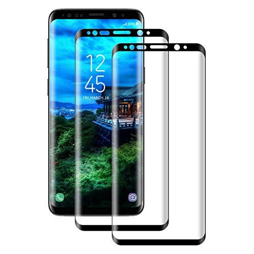 Aspiree Panzerglas Schutzfolie kompatibel mit Samsung Galaxy S8, Gehärtetes Glas Displayschutzfolie mit 9H Härte, HD Ultra Klar, Anti-Kratzen, Anti-Öl, Displayschutz Folie für S8(2 Stück)