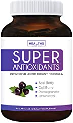 MAINTAIN HEALTH WITH FULL BODY ANTIOXIDANT SUPPORT: Crucial to good health, antioxidants help support a strong and healthy immune system. Loaded with superfood extracts like Pomegranate, this supplement boosts energy, supports the immune system, and ...