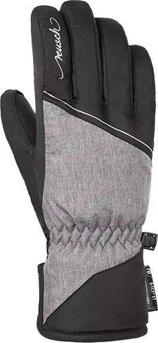 Reusch Damen Brianna R-TEX XT Handschuh, Black/Grey Melange/pink glo, 7.5