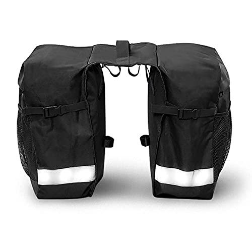 BUMSIEMO Doble bici trasero BagBag impermeable asiento trasero Accesorios bicicleta ciclo