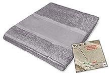 Tex Family - Juego de toallas de rizo Tosca © tela Aida para bordar punto de cruz 1 + 1 cara y invitados (gris)