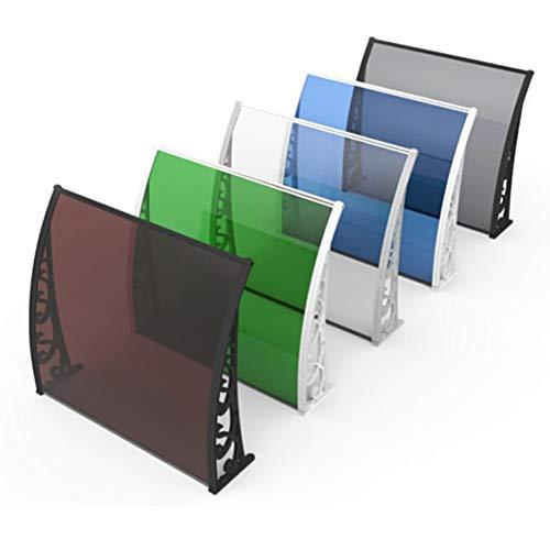 RZEMIN Haustürvordach Aluminiumlegierung Halterung PC Ausdauer Board Baldachin Sonnenschutz Regenschutz Stumm Balkon Fensterbank Markise Im Freien (Size : 100x150cm)