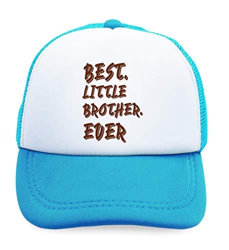 Summer Kids Trucker Hat Best Little Brother Ever Funny Style A Polyester Boys Girls Sun Toddler Caps Light Blue Design Only Adjustable