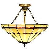 50,8 cm amarillo pensión de la sala de estar sala de estudio mediterráneo de techo lámpara de techo de luminarias de techo del comedor