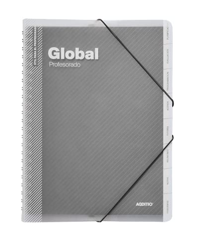Additio P172 - Carpeta Global para el profesorado, colores aleatorios