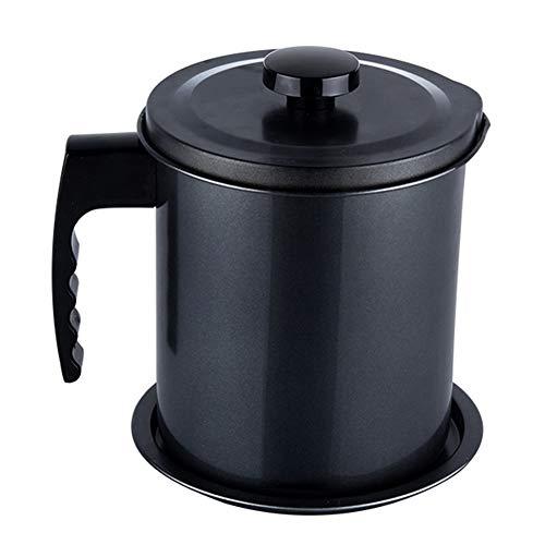 Contenedor de aceite para cocina, separador de latas de 1,3 l, con filtro de grasa, recipiente de filtro para freidora, herramienta de cocina