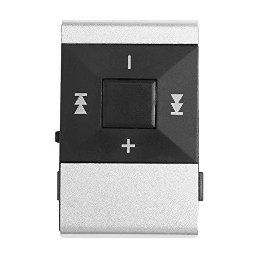 Domybest Mini-MP3-speler, sport, MP3-speler, digitaal, USB, ondersteunt TF-kaart, stereo, sport, MP3-speler, Walkman, met metalen clip, zilver.