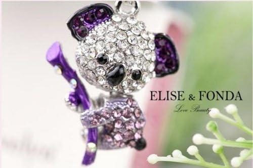 Max 60% OFF EP246-B Purple Crystal Koala Bear Charm for Anti Dust Spring new work iPhon Plug