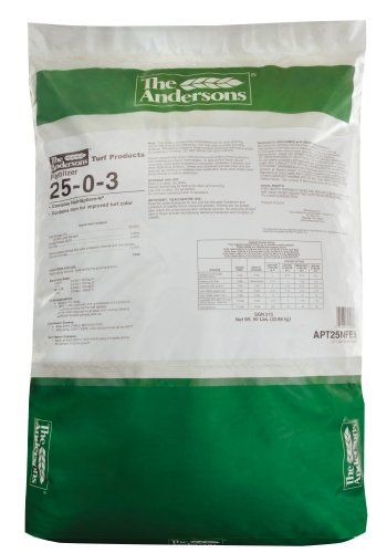 The Andersons 25-0-3 Turf Fertilizer with 2% Iron, 50 lb. Bag