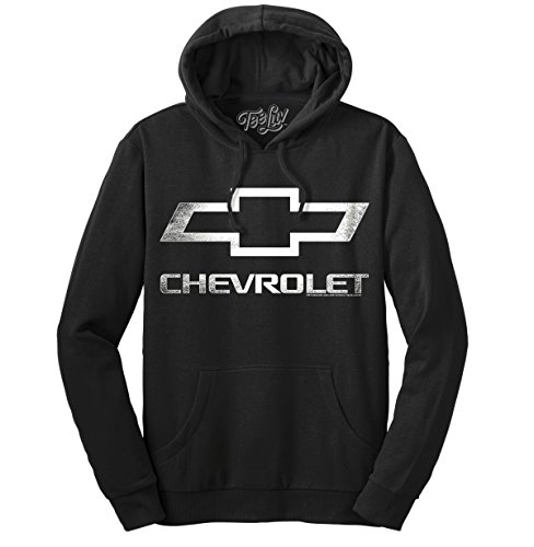 Tee Luv Chevrolet Logo Pull Over Hoodie | Soft Touch Hoodie-SM,Black