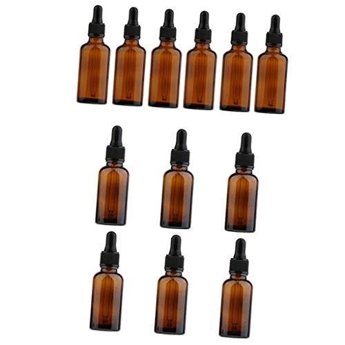 Backbayia 12pcs Flacon Compte-gouttes Liquides Bouteilles Pour Parfum Huiles Essentielles
