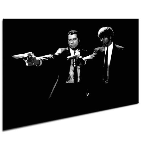 Pulp Fiction Leinwandbild Bild fertig auf Keilrahmen ! Pop Art Wandbilder, Bilder zur Dekoration - Deko. Film/Movie/Tv Stars Kunstdrucke und Gemälde