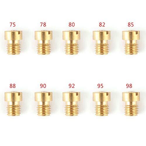 Artudatech, Set di 10 ugelli per carburatore Dellorto, 5 mm, per carburatori da 75 a 98