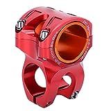 Alomejor Attacco Manubrio 31,8-35 mm Attacco Manubrio MTB Attacco Manubrio per Mountain Bike per Bicicletta, Bici da Strada, MTB, BMX (Lega di Alluminio)(Rosso)