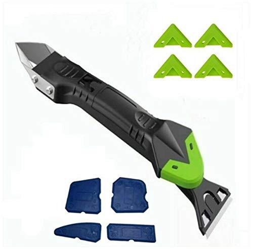 Rascador de ángulo de pegamento, herramienta de reparación para rascar restos de pegamento, herramienta duradera para quitar selladores de silicona (versión mejorada del limpiador).