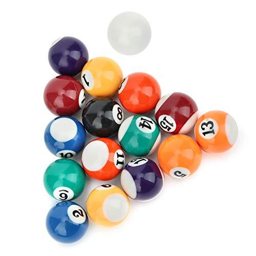 Keenso Mini Bolas de Billar de Resina Juguete de Bola de Billar para niños ecológico 16 Piezas 32 mm Mesa de Billar Bolas de Entrenamiento de Billar
