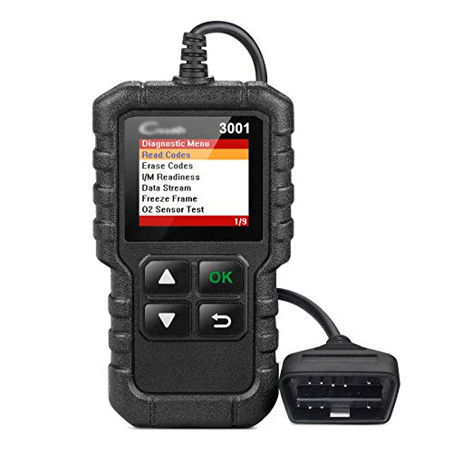 HENGX OBD2 Diagnosegerät Auto LKW KFZ/CR3001 OBD2 Vollfunktionscodeleser/Voll OBD2 Eobd Scanner Scan Tool,CR3001-Black