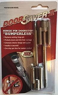 Door Saver II Hinge Pin Door Stop 2-Pack in Satin Nickel Finish