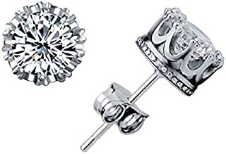 Stud Earings Fashion Jewelry Unisex Trendy Women/Men Crystal Earrings Crown Earring Piercing Gifts