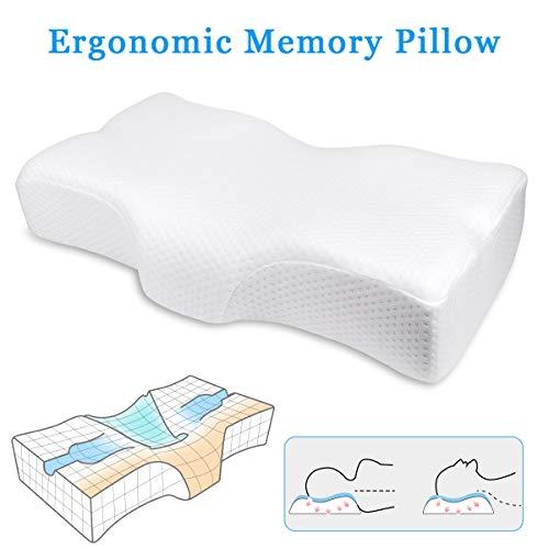 CN-hzq Memory-Schaum Kissen, Ergonomisches Antischnarchkissen,Entspannen Sie Ihre Kopfmuskeln und schlafen Sie leicht ein.