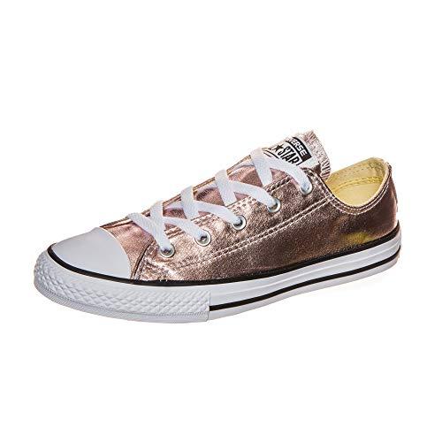Converse Mädchen Chuck Taylor All Star Metallic OX Sneaker, Pink (Rosegold/Weiß Rosegold/Weiß), 31 EU