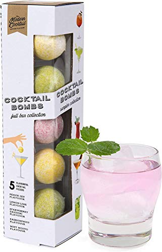 Modern Gourmet Foods Cocktail-Bomben - Geschenkset mit 5 verschiedenen Cocktail-Kugeln für selbstgemachte Party-Drinks