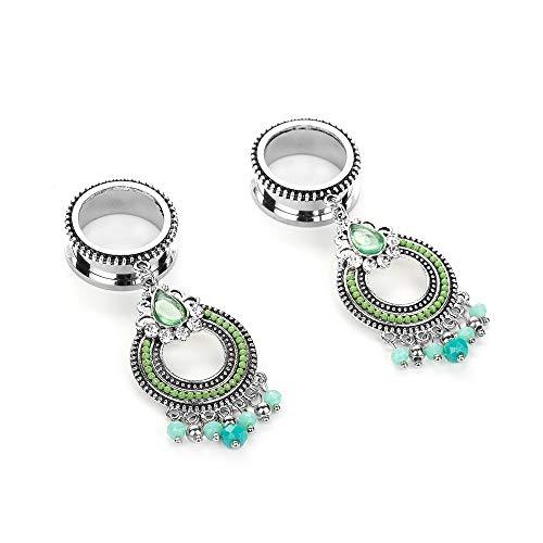 Las camillas del oído Acero Colgante de diamante de metal inoxidable borla de Europa y América del oído oído de la joyería Piercing aurícula Para hombre y mujer ( Color : Silver , Size : 10mm )