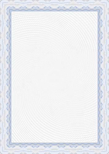 APLI OSD4040 - Papel certificado azul 115 g 25 hojas ⭐