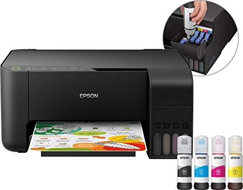 Epson EcoTank de 2710nachfüllbares 3en 1de inyección de Tinta multifunción (fotocopiadora, escáner, Impresora, DIN A4, WiFi, Gran Alcance, bajo Coste Lado)