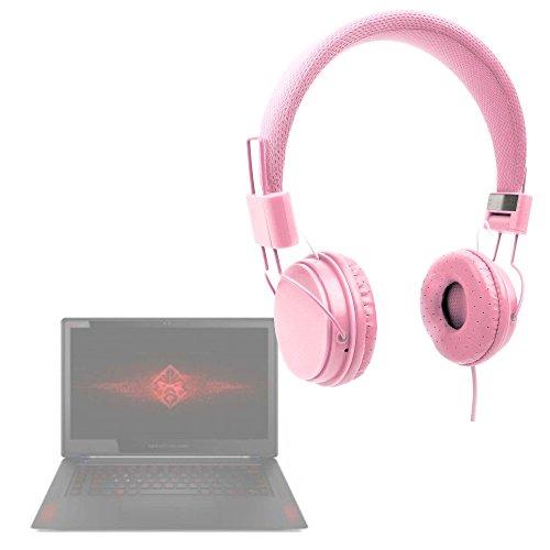 DURAGADGET Auriculares Rosa Compatible con Portátil HP 15-ay110na / HP Omen 15-ce030ng, 15-ce032ng, 17-an030ng, 17-an032ng, 17-an033ng, 17-an034ng, 17-an035ng / HP Pavilion Power 15-cb009ns