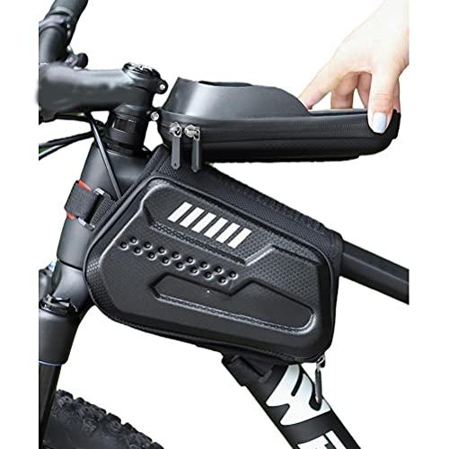Bolsa Impermeable para Cuadro De Bicicleta, Soporte para Teléfono para Bicicleta Bolsas para Bicicleta Soporte para Teléfono Móvil para Bicicleta