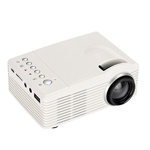 SKAISK Proyector 3D 4K HD Proyector Inteligente 1080P Mini Cine En Casa Inteligente Reproductor Multimedia Proyector - Blanco
