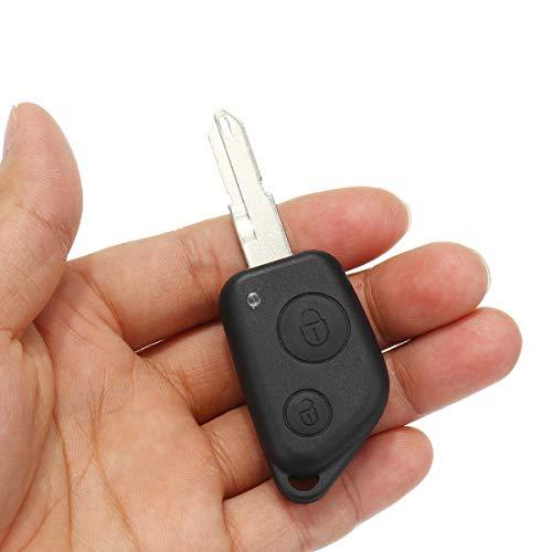 JenNiFer 2 Boutons À Distance Clé Affaire Fob Shell Uncut Remplacement pour Peugeot 106 205 206 306 405 406