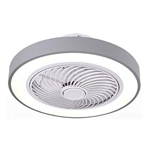 DLGGO Ventilador de techo moderna Ronda con la luz, ventiladores de techo regulable LED Lámparas de techo 3 colores 3 Velocidades invisible Lámpara con control remoto silencioso del restaurante del do
