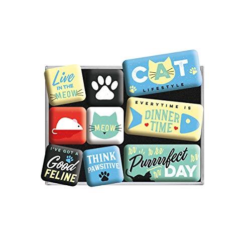 potente para casa Arte de la nostalgia, imanes retro, estilo de vida de los gatos: ideas de regalos para los dueños de gatos …
