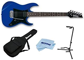 Ibanez GIO Series GRX20Z Electric Guitar Jewel Blue - With Ibanez IGB101 Gig Bag, On-Stage Guitar Stand, Cloth