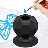 Suctioned Vinyl Weeding Scrap Collector, Silicone Suction Cups for Vinyl Disposing, Craft Weeding Tools Holder Set Kit for Vinyls Weeder, Crafters (Black)