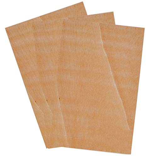 Pack de 2 tableros de CONTRACHAPADO, madera de gran calidad, para bricolaje y manualidades, 4 mm grosor. 80 x 60 cm.