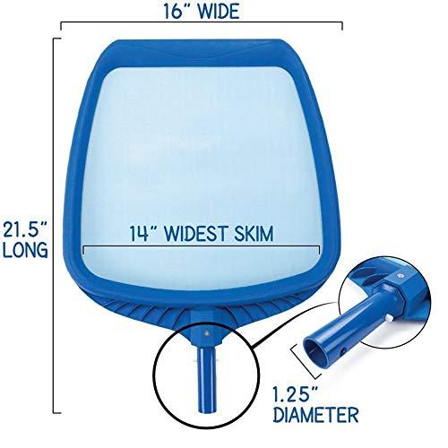 Hand Skimmer Standard Pool Polen Cleaners Zubehör Professionelle Heavy Duty Pool Blatt Skimmer Net Fit QPLNTCQ