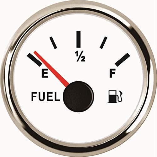 """Odometer Spur Kraftstoffanzeige 2"""" Auto Kraftstoff Öltankfüllstands Meter 0-190ohm Signal for Boote Tuck 12V 24V mit roter Hintergrundbeleuchtung ZHQHYQHHX (Color : WS, Size : Kostenlos)"""
