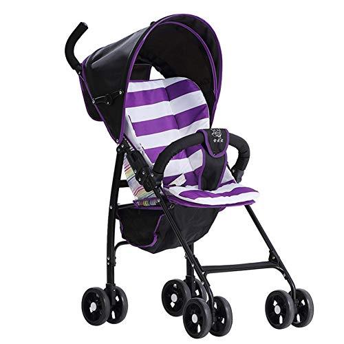 QXYA - Cochecito de bebé Deportivo, Sistema de Viaje Compacto, Plegable, con Sistemas de Viaje, Cochecito Ligero y fácil de Usar, para Viajes, Apto para Exterior, Camping, Senderismo